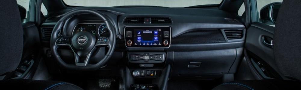 inside the 2020 Nissan Leaf