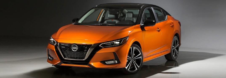 an orange 2020 Nissan Sentra