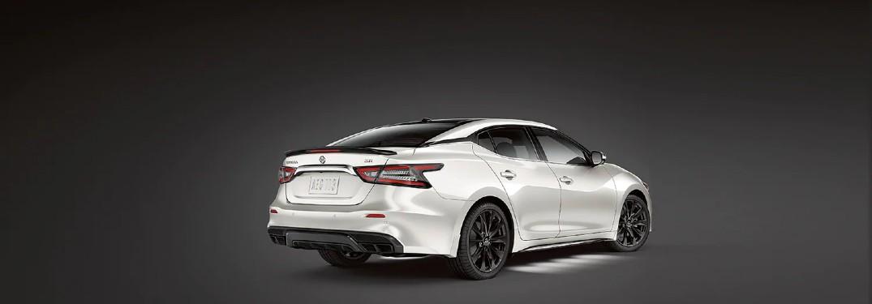 rear view of white 2020 Nissan Maxima