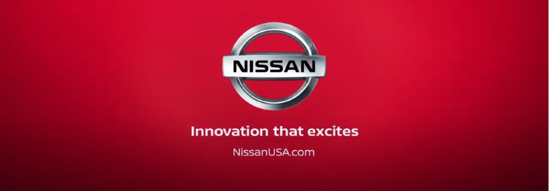 Nissan logo and tag line