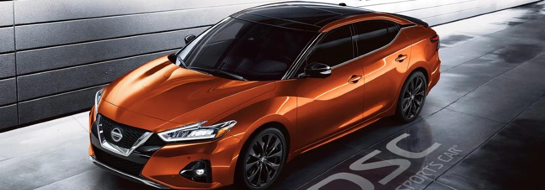 orange 2020 Nissan Maxima