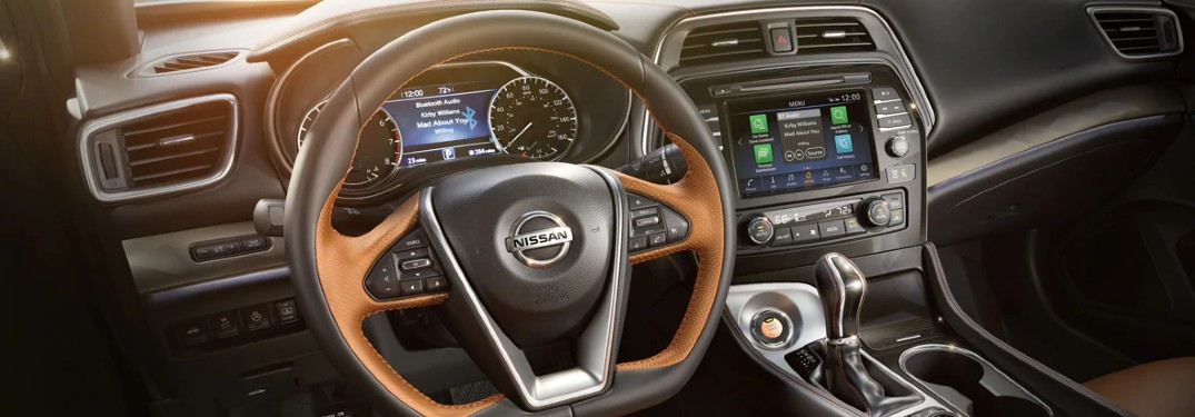dashboard in the 2020 Nissan Maxima