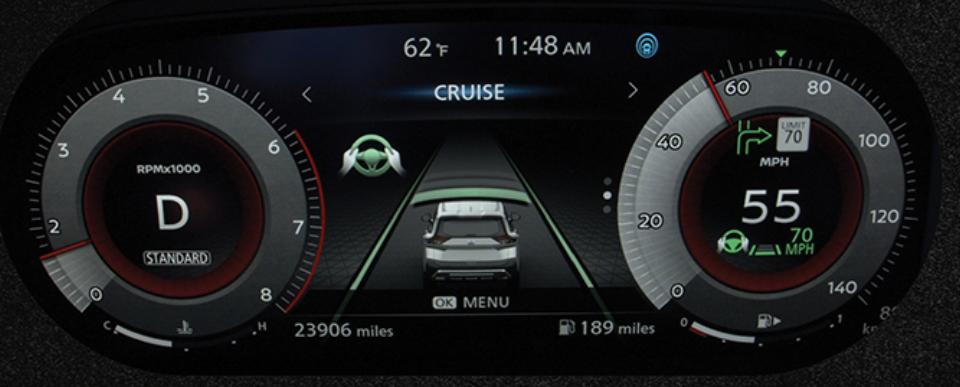 Nissan's digital dashboard