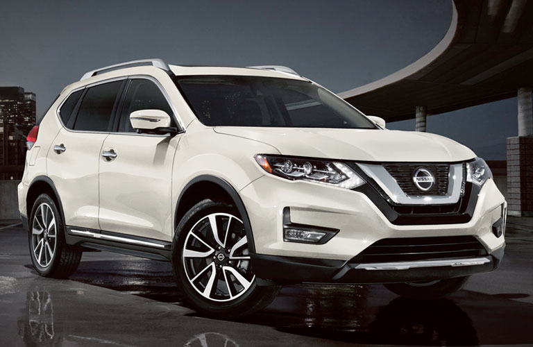 white 2020 Nissan Rogue front view
