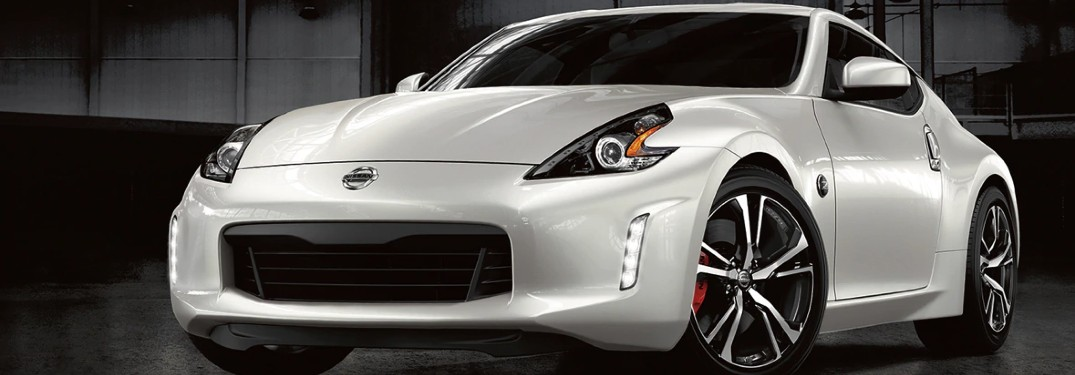 front view of the white 2020 Nissan 370Z