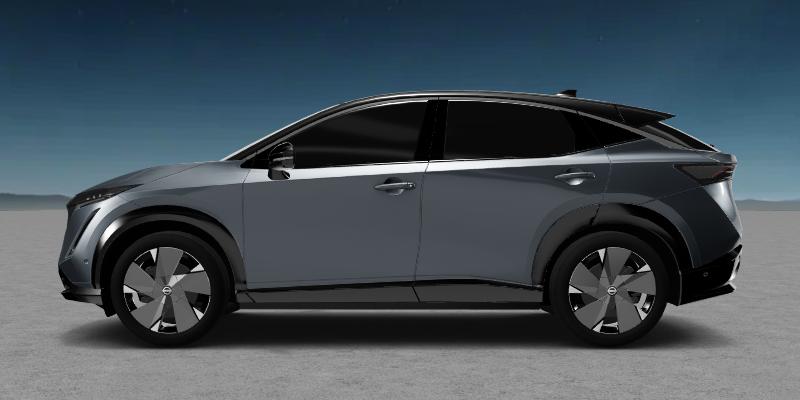 2021 Nissan Ariya in a blue grey color