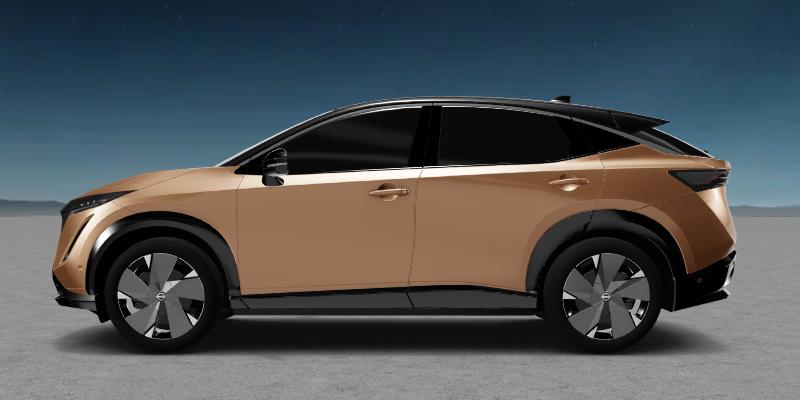 2021 Nissan Ariya in a copper color
