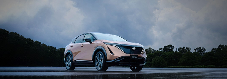 2021 Nissan Ariya in a parking lot