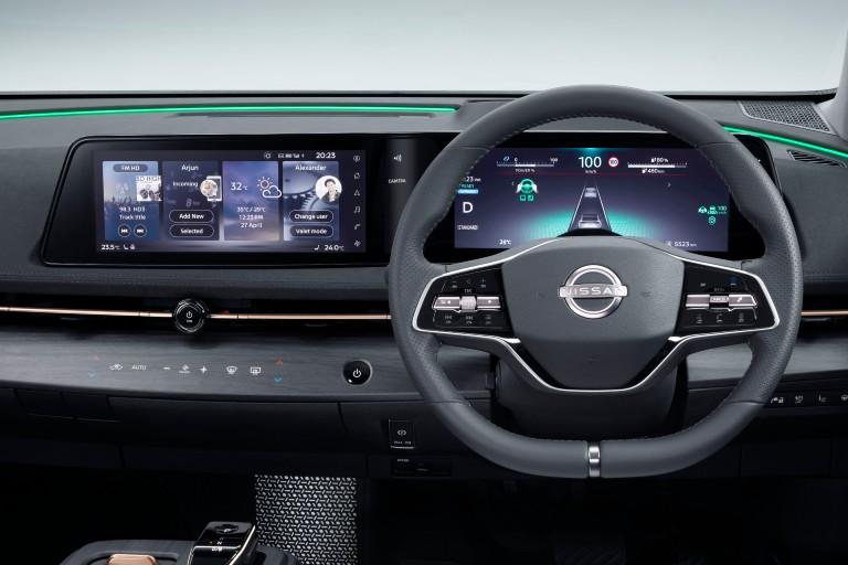 dashboard in Nissan Ariya