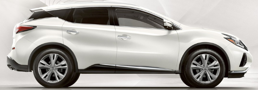 side view of white 2020 Nissan Murano