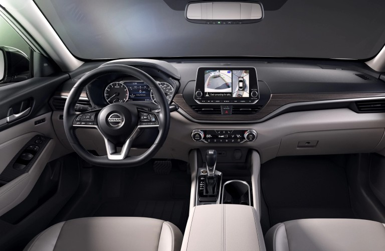 front interior view of the 2020 Nissan Altima