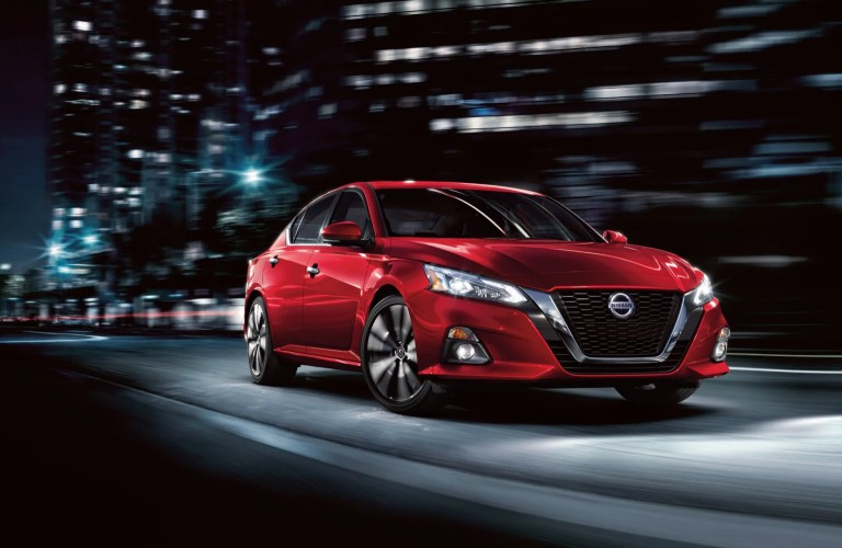 front view of red 2020 Nissan Altima