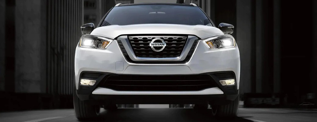 front view of white 2020 Nissan Kicks