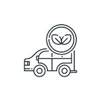 nature friendly vehicle illustration