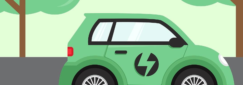 illustration of hybrid car
