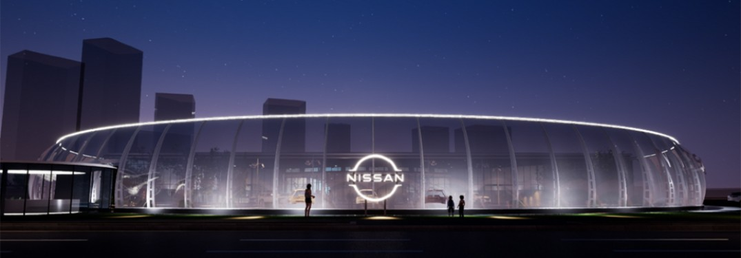 new nissan logo on building