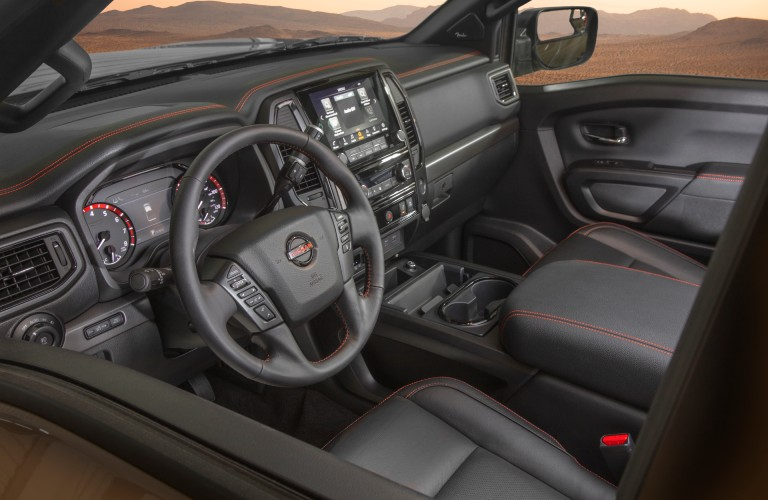 front interior view of the 2021 Nissan Titan