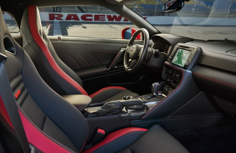 front interior of the 2021 Nissan GT-R