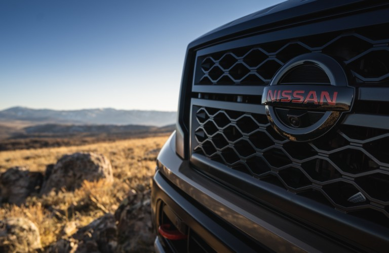 grille of the 2021 Nissan Titan