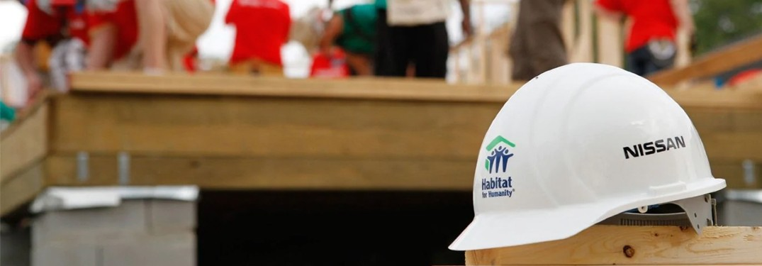 Habitat for Humanity and Nissan hard hat