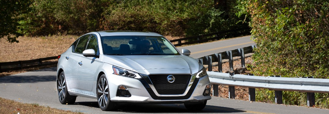 2021 Nissan Altima driving down the road