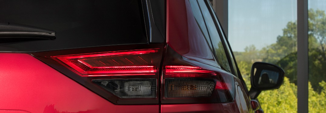 rear close up view of the 2021 Nissan Rogue