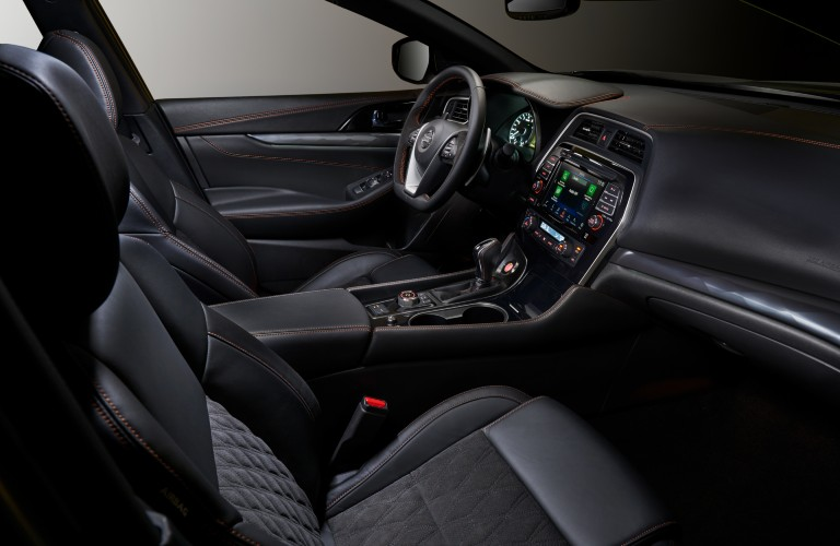 front interior of the 2021 Nissan Maxima