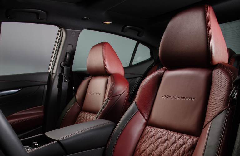 seats in the 2021 Nissan Maxima 40th Anniversary Edition