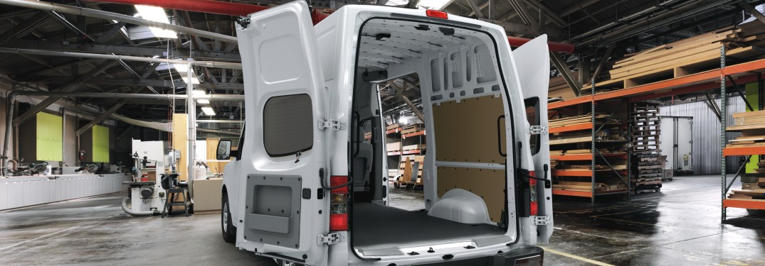2021 Nissan NV Van with back doors open