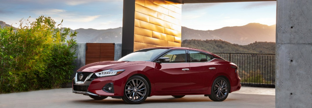 2021 Nissan Maxima parked in driveway