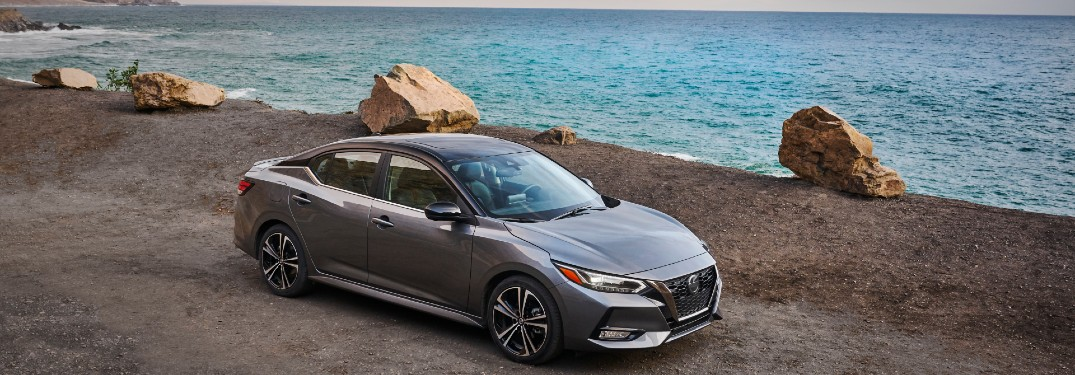 2021 Nissan Sentra parked by the water