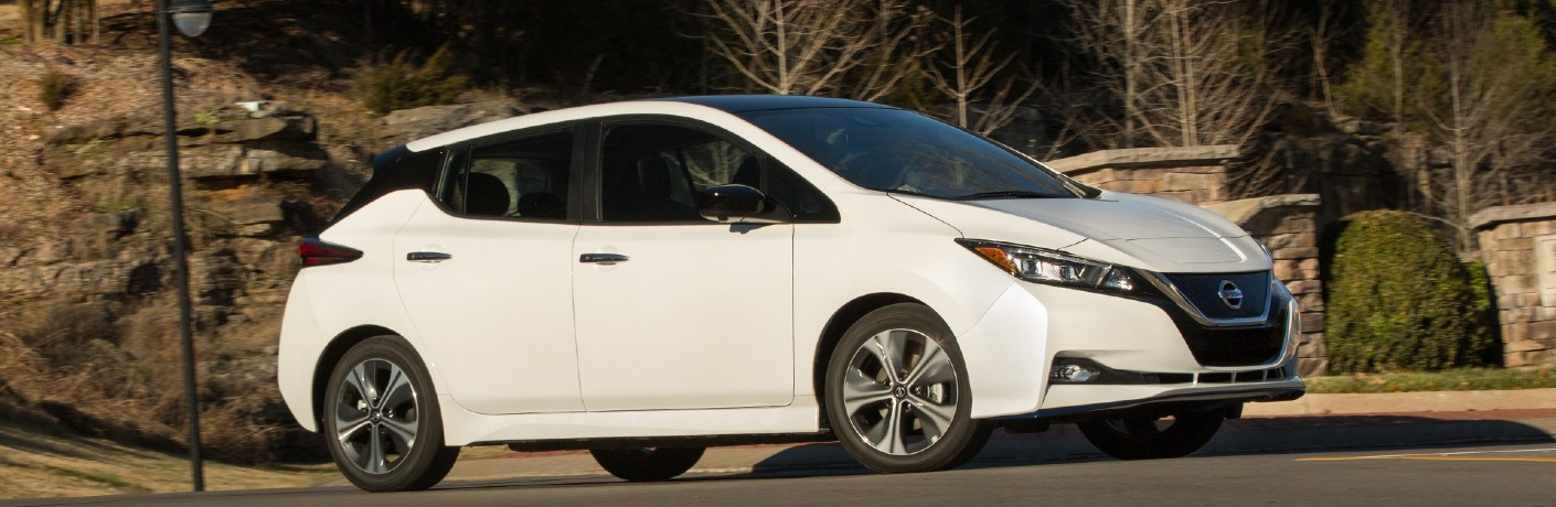 white 2021 Nissan LEAF