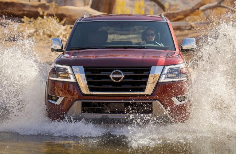 2021 Nissan Armada driving through water