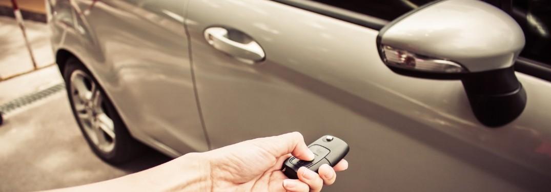 person unlocking car