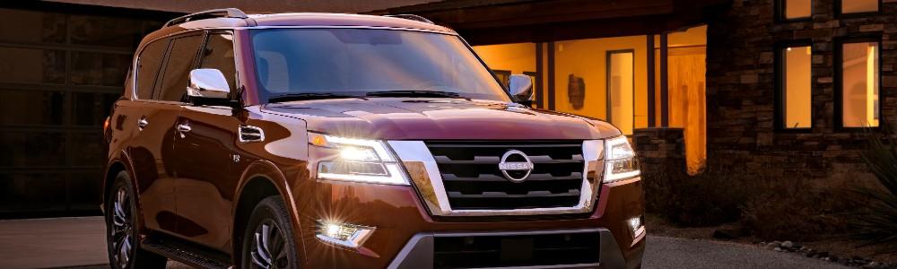 red 2021 Nissan Armada