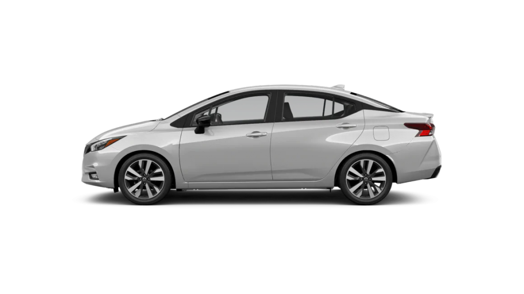 2021 Nissan Versa in brilliant silver metallic