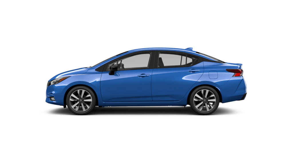 2021 Nissan Versa in electric blue metallic