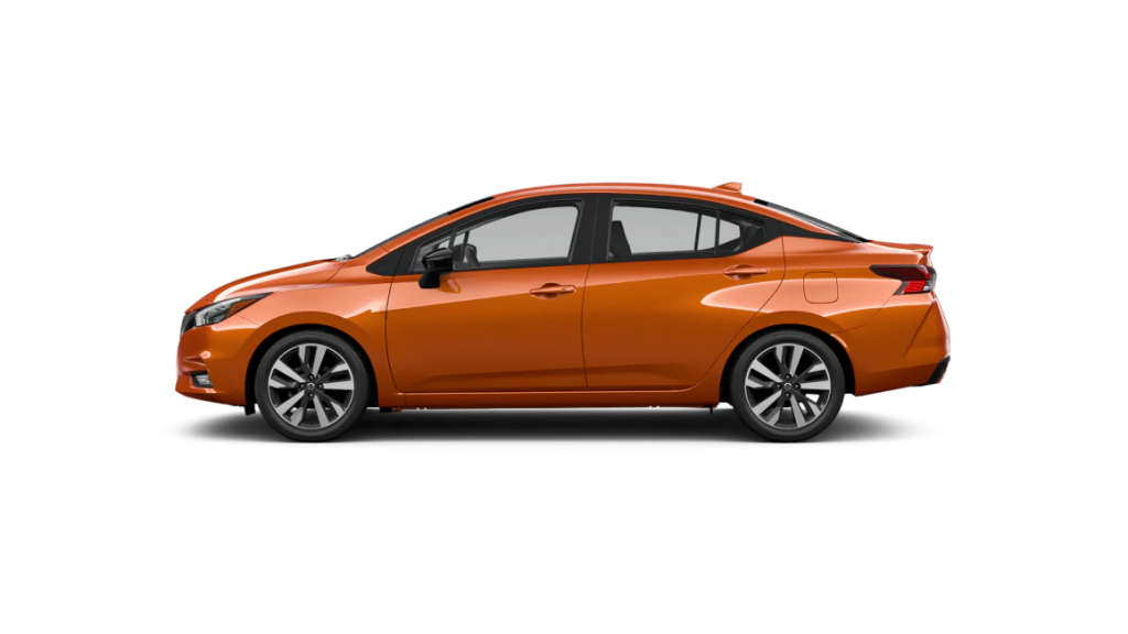 2021 Nissan Versa in monarch orange