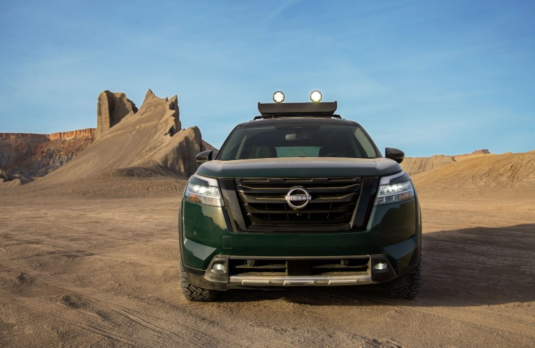 2022 Nissan Pathfinder in the desert