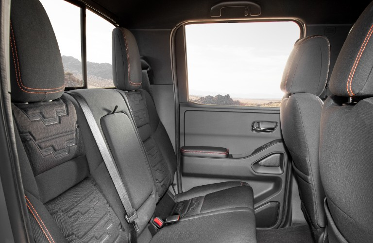 2022 Nissan Frontier seating area