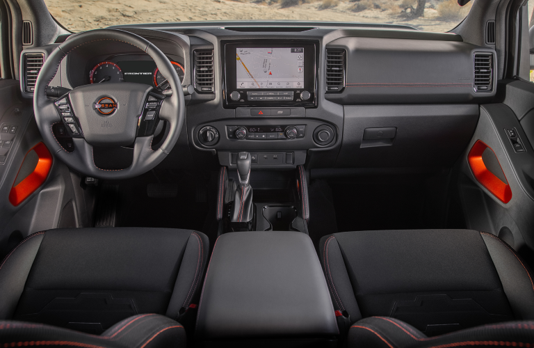 front seats in the 2022 Nissan Frontier