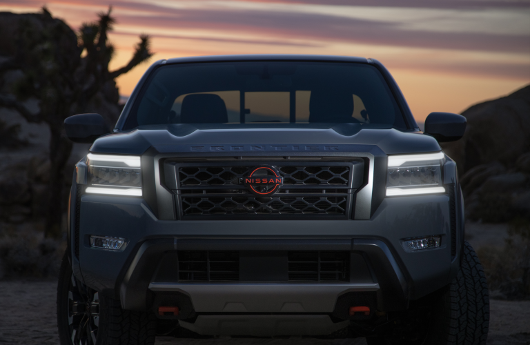 2022 Nissan Frontier in the desert