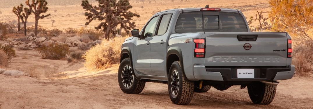 rear view of the 2022 Nissan Frontier