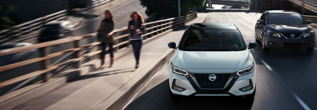 front of the 2021 Nissan Sentra