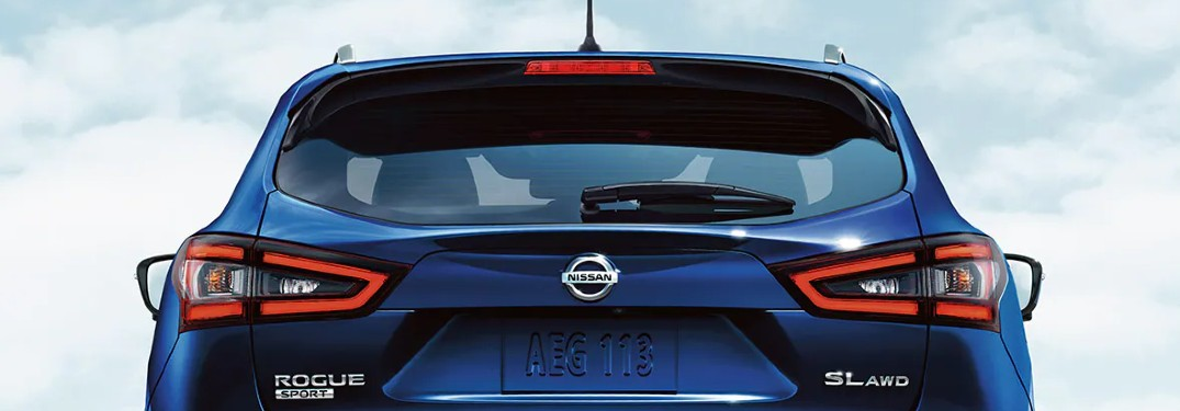 rear of the 2021 Nissan Rogue Sport
