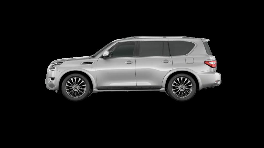 2021 Nissan Armada in brilliant silver