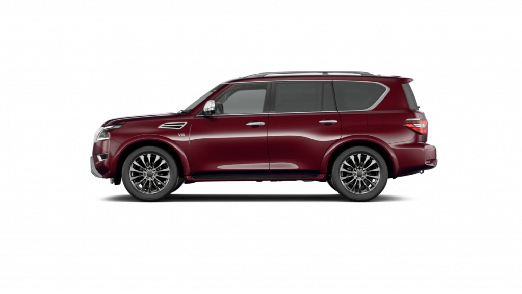 2021 Nissan Armada in coulis red
