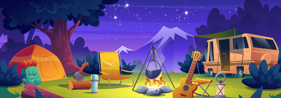 camp site illustration