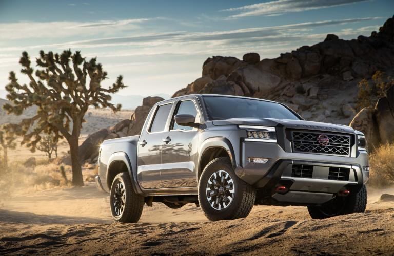 2022 Nissan Frontier parked in desert