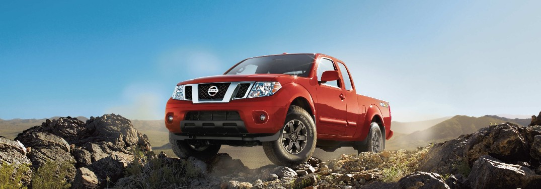 2017 Nissan Frontier on rocks